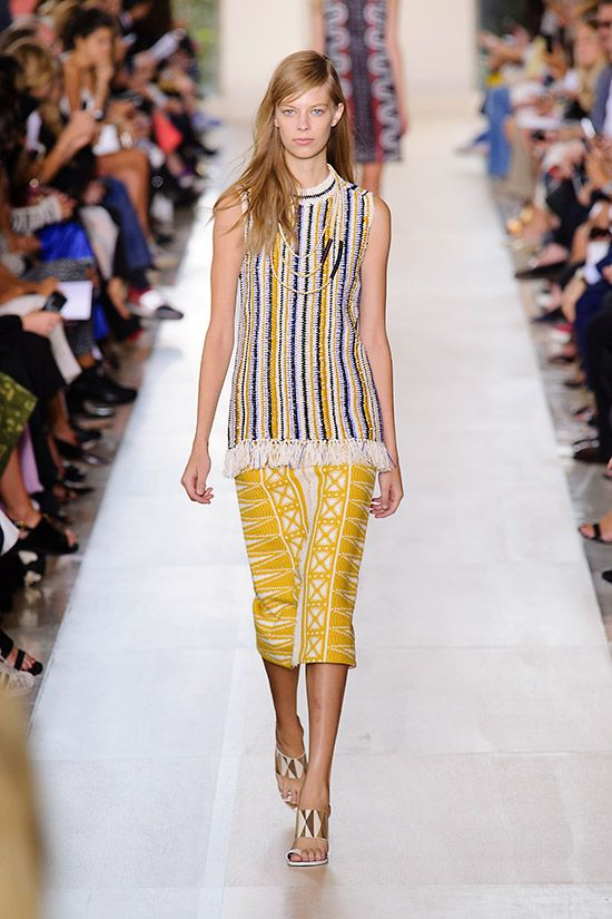 4f92d6a0670a Sleek silhouettes infused with striking global graphics from Tory Burch.  2015 Fashion Trends