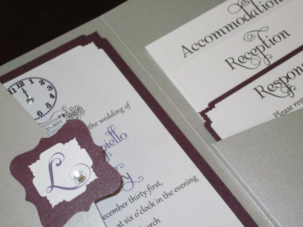 New Wedding Invitation Ideas: NEW YEAR'S EVE WEDDING IDEAS INCLUDING OUR SIGNATURE CLOCK