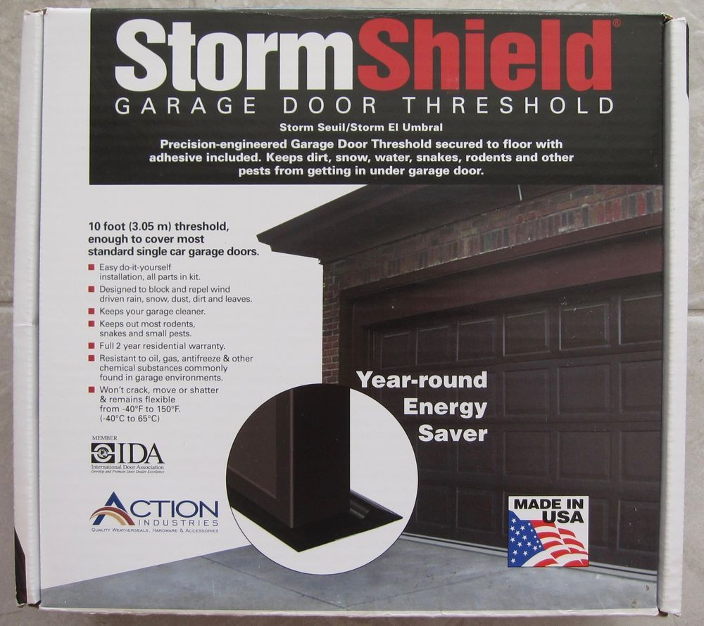 Storm Shield Garage Door Threshold Kit New In Box 10 Feet Standard Single Garage Garage Door Threshold Garage Doors Garage