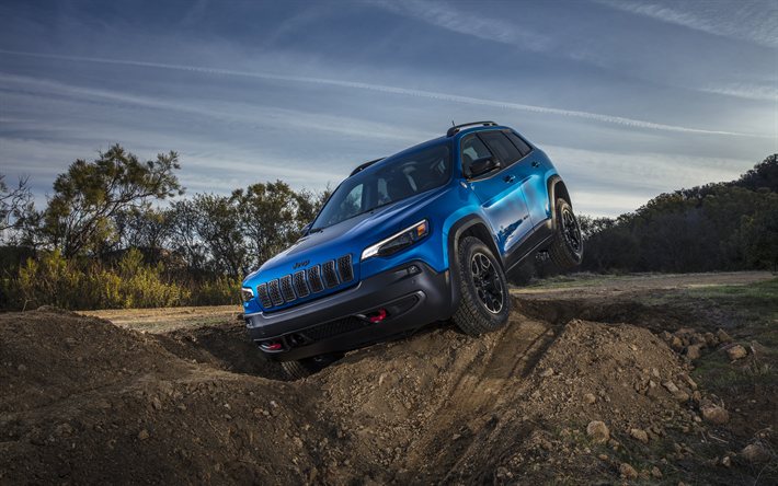 Download Wallpapers Jeep Cherokee Trailhawk 2019 Cars Offroad
