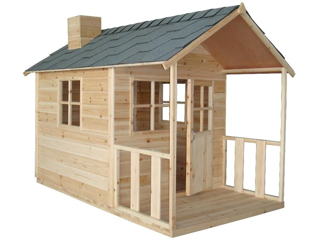 Outdoor Kids Play House With Wooden Wall Idea And Nice
