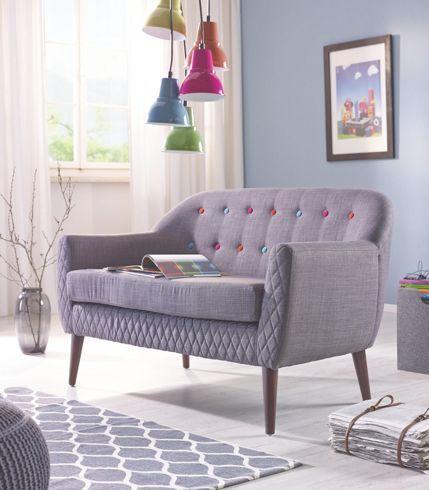 sofa dunkelgrau kn pfe bei m max g nstig online bestellen. Black Bedroom Furniture Sets. Home Design Ideas