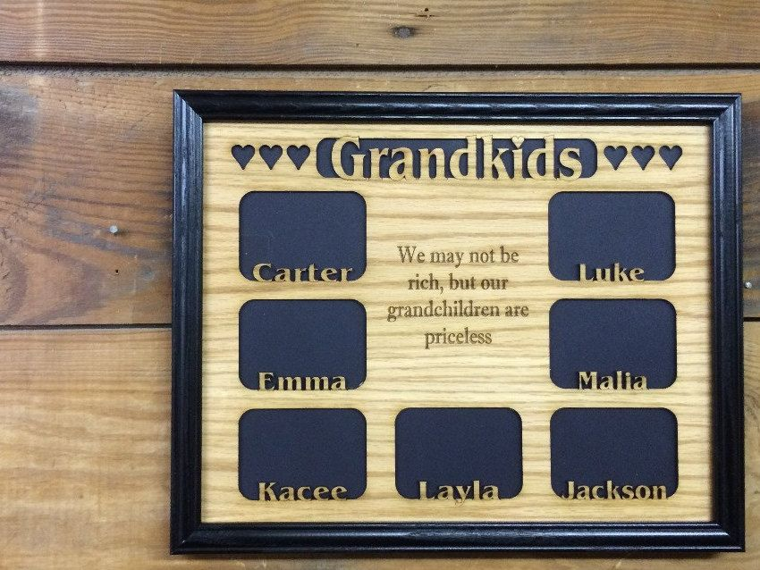 12x16 Personalized Grandkids Name Picture Frame Grandchildren Frame Gift For Grandparents School Picture Frames Custom Picture Frame Gifts For Grandparents