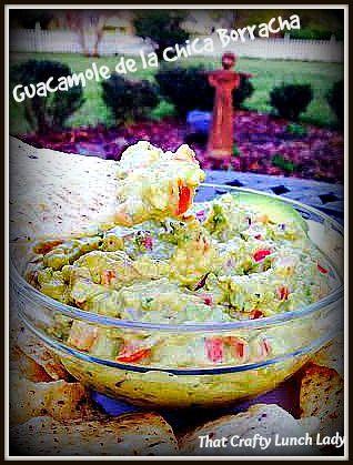 Guacamole de la Chica Burracha!!!  Made with Debi :)