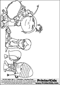 Despicable Me 2 - Margo, Edith and Agnes #2 Good times - Coloring Page