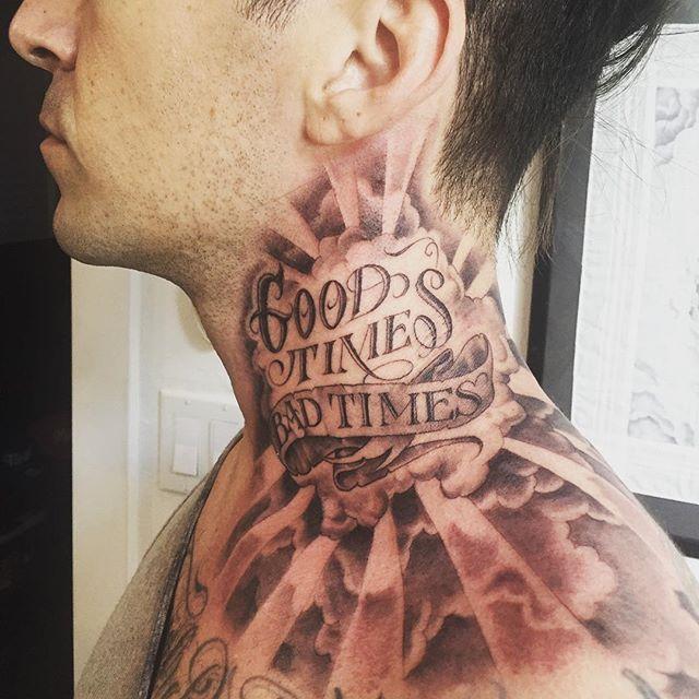 Instagram Photo By Mister Cartoon Jun 15 2016 At 7 34pm Utc Neck Tattoo For Guys Torso Tattoos Neck Tattoo