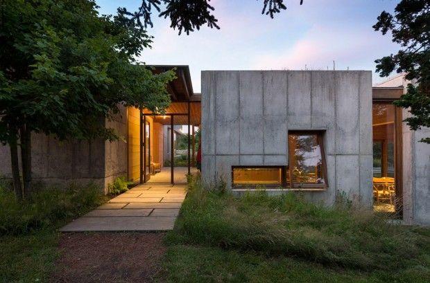 East house par peter rose partners architecture bardage bois maison modulaire et maisons - Maison modulaire beton ...