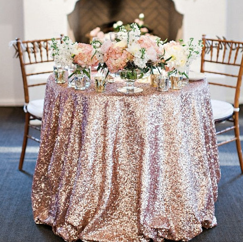 Easy diy add blush and cream flowers to make your rose gold easy diy add blush and cream flowers to make your rose gold sequin tablecloth pop solutioingenieria Choice Image