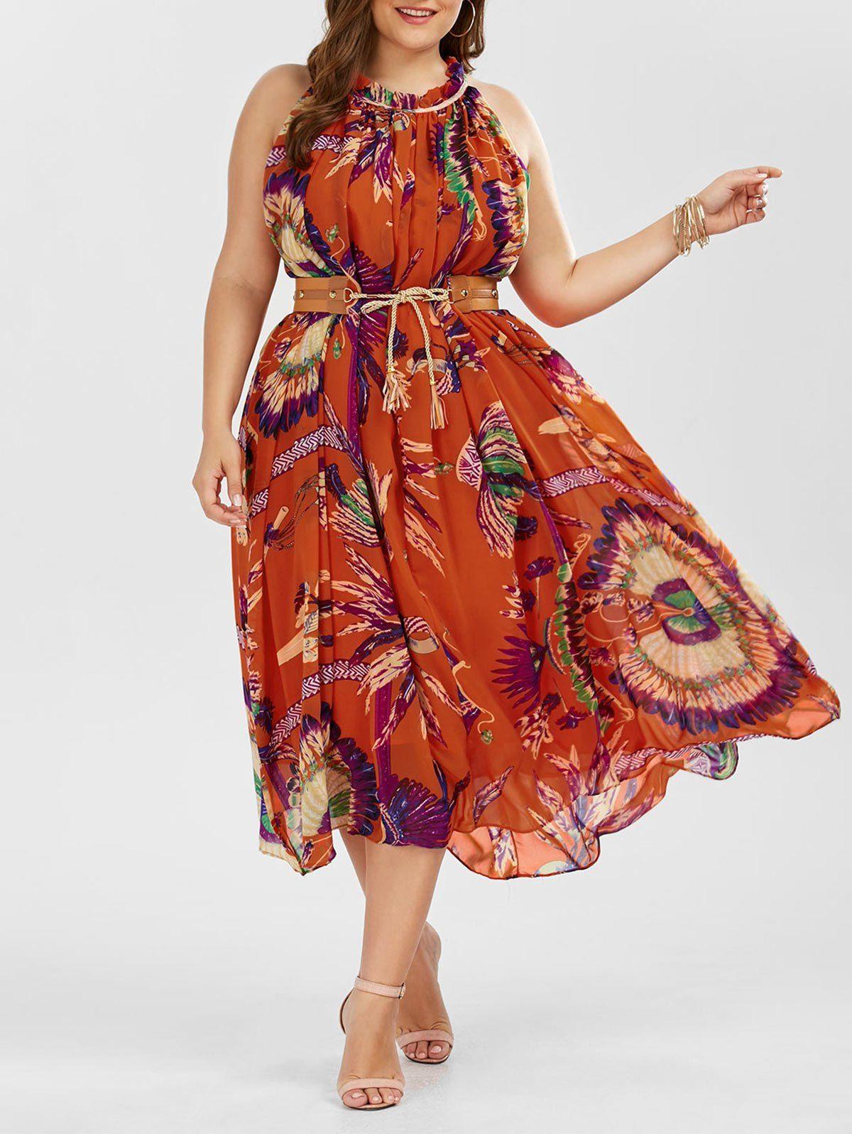Floral Plus Size Maxi Summer Dress | Plus size summer ...