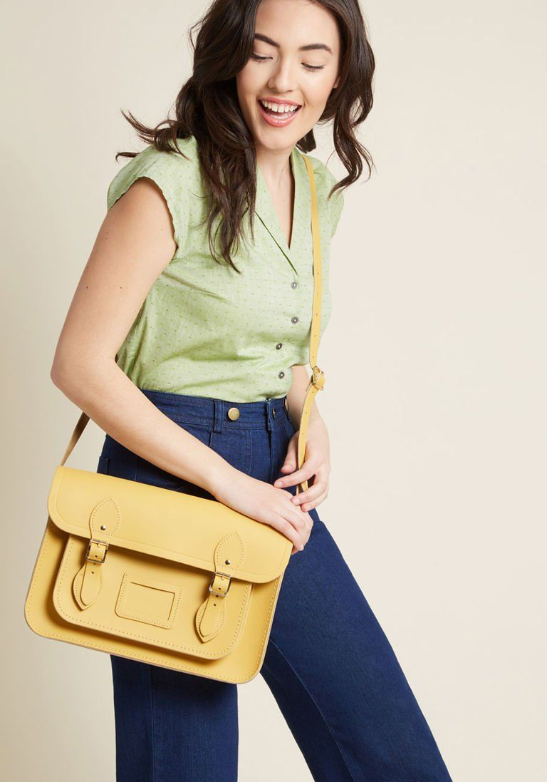 9ab70cd1515e The Cambridge Satchel Company Bag in Mustard - 13 in. by Cambridge Satchel  from ModCloth