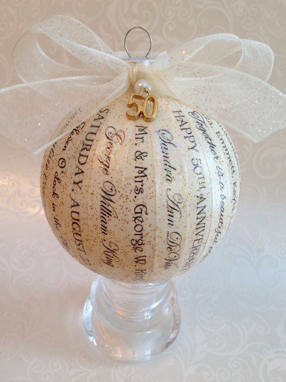 40th Wedding Anniversary Gift Ideas For Friends: 50th Anniversary Gift Handmade By HappyThoughtsbyKelly On