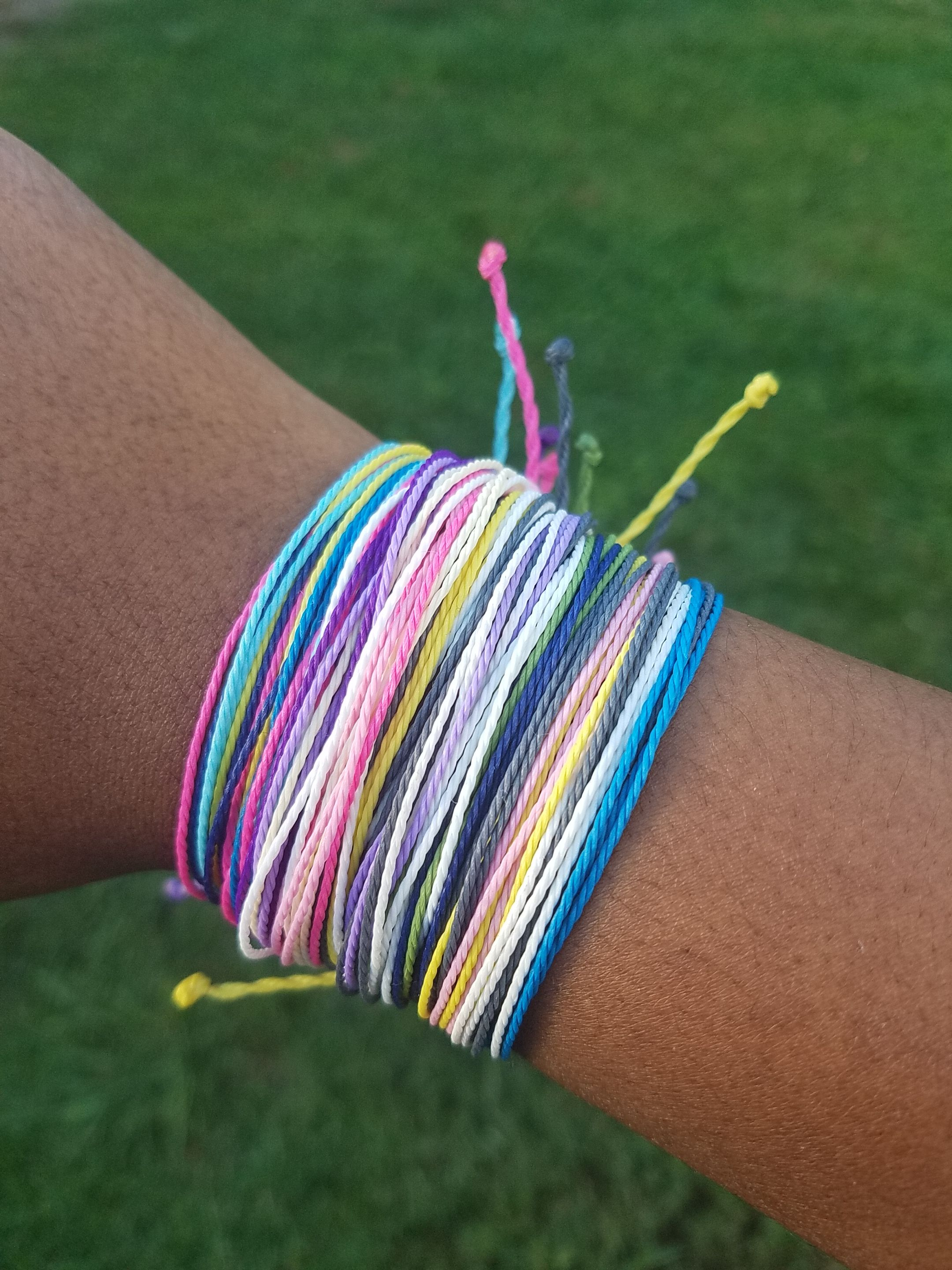 String bracelets handmade with high quality waxed polyester cord
