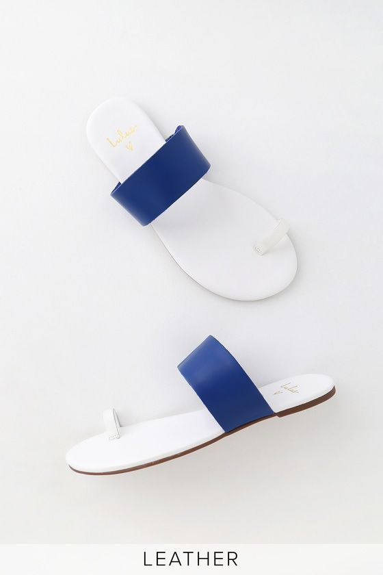 Tessa Cobalt Blue and White Leather