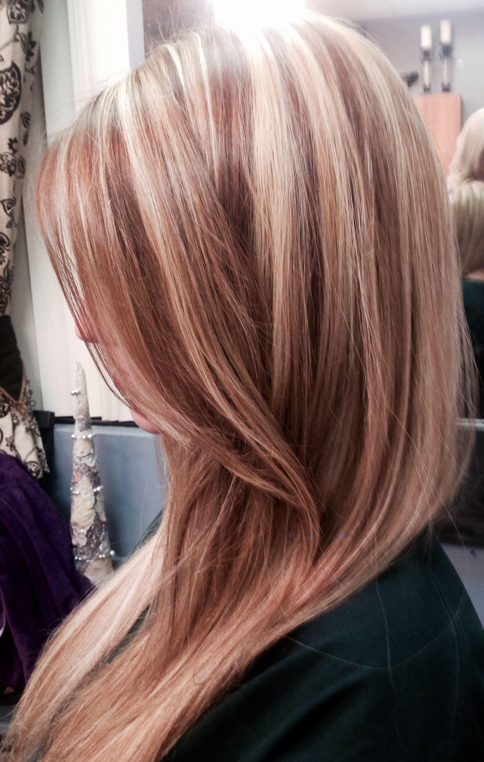 Long Hair Blonde Hair Highlight Lowlights Lights And Dark Pretty