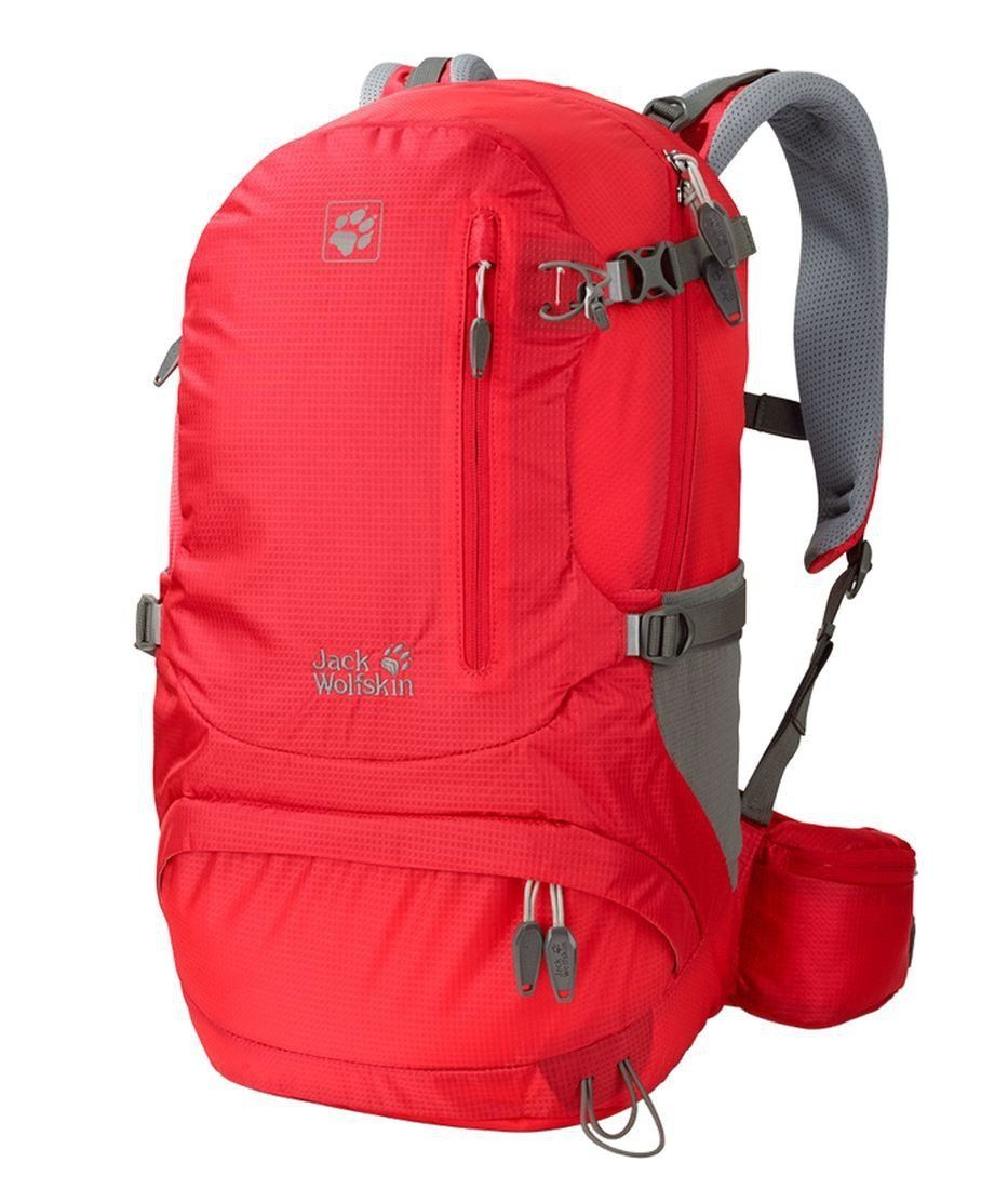 Jack Wolfskin Women's ACS Hike Pack Rucksack, Hibiscus Red