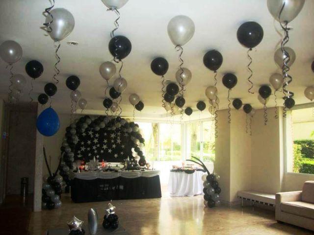 Baloes no teto com fotos