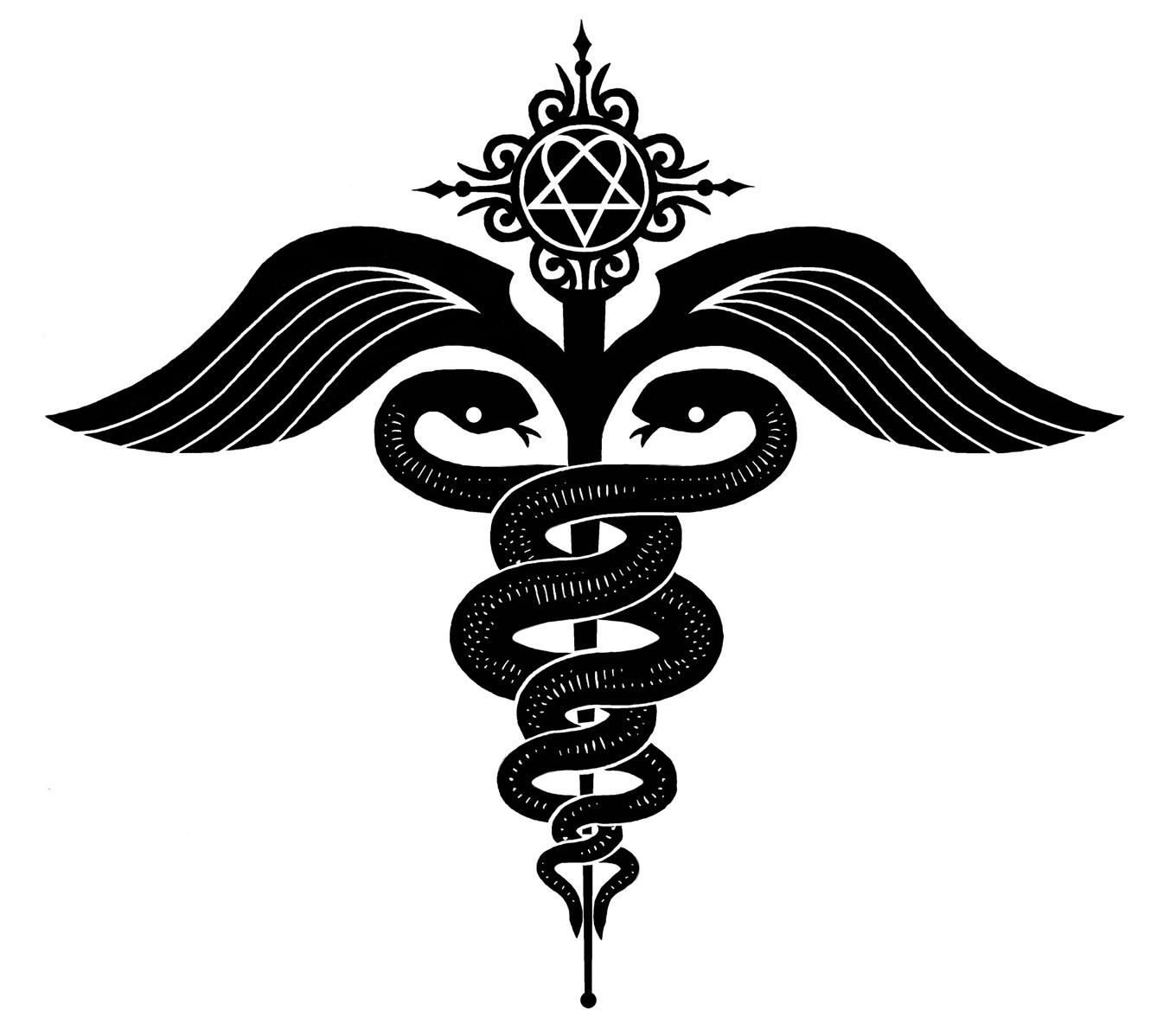 Infp the healer to be wise like the serpent yet gentle as the logos for caduceus medical symbol tattoo buycottarizona Image collections