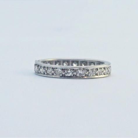 1940's Platinum Full Set Diamond Eternity Ring