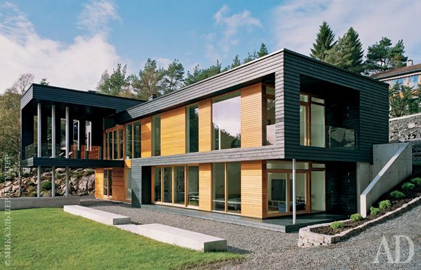 Saunders Architecture Designed Villa Storingavika, Located On The Outskirts  Of Bergen, Norway.
