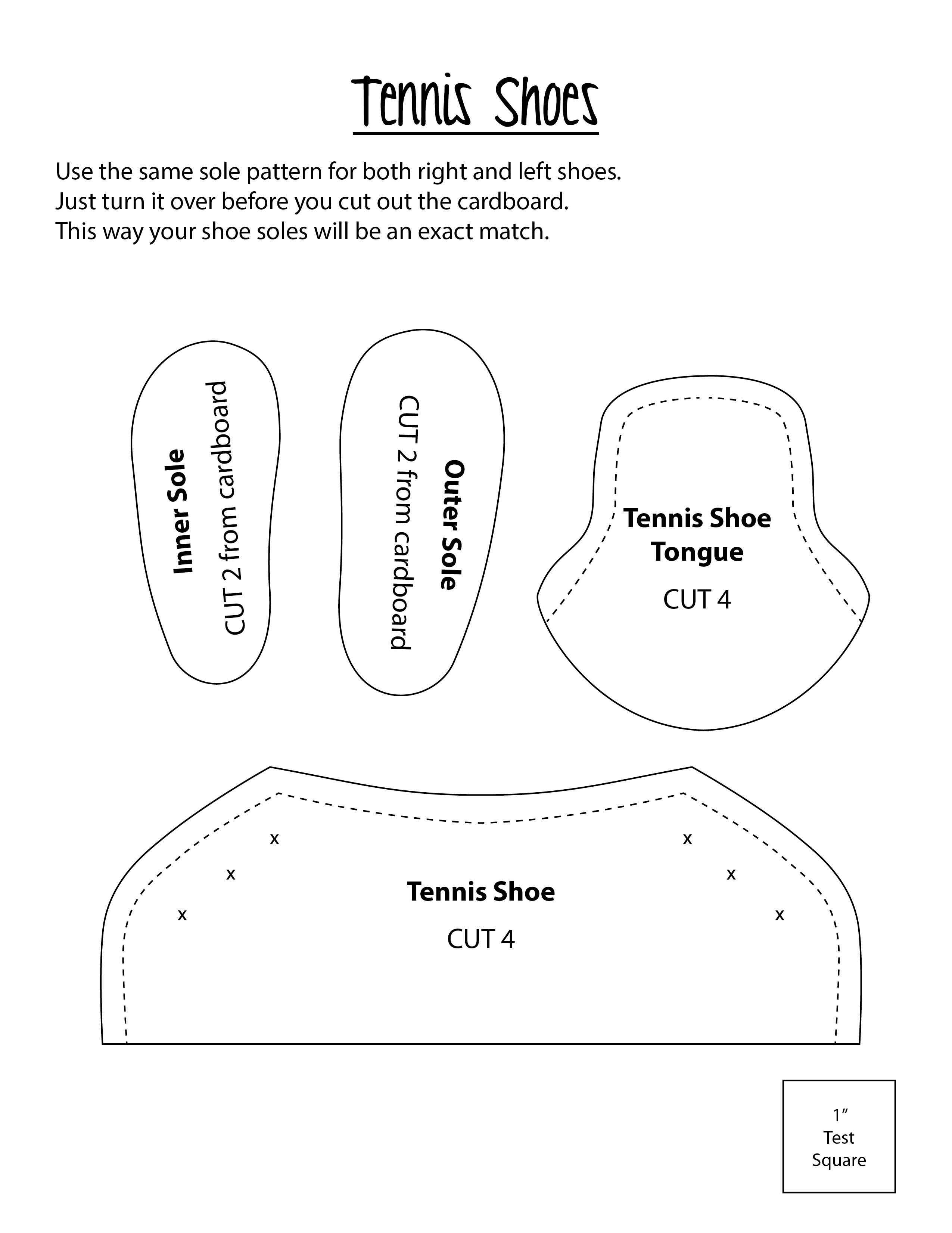 be2ef90168d6e8 ... Doll Patterns by Diane Morello. Regular Tennis shoes.