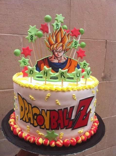 Dragon Ball Z Birthday Cake For Boys Anime Cake Happy