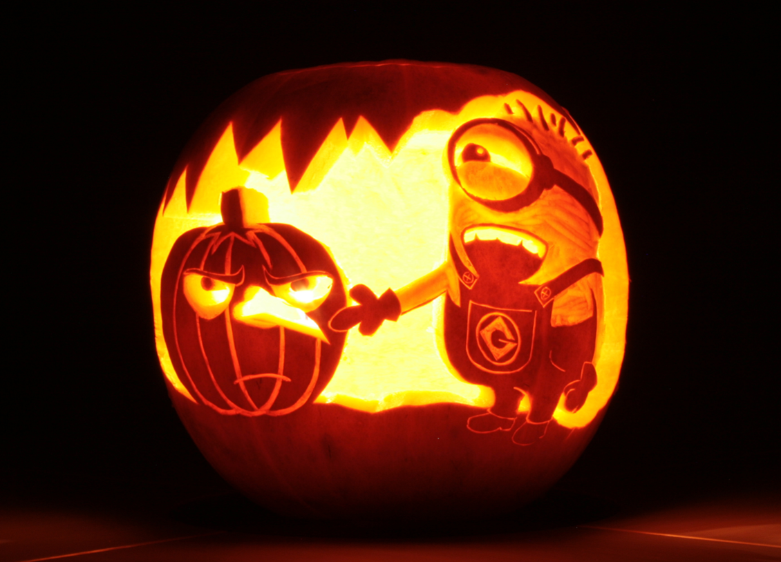 CARVE THE BEST PUMPKIN TO WIN | Minion kürbis, Kürbis und Kürbisse ...