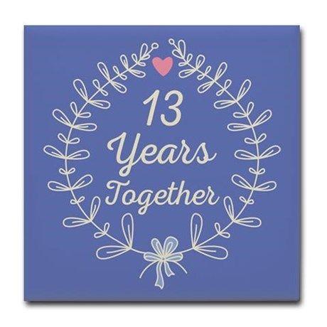 13th Wedding Anniversary Tile Coaster On Cafepress Com 13th Wedding Anniversary Gift 13th Wedding Anniversary Wedding Anniversary Quotes