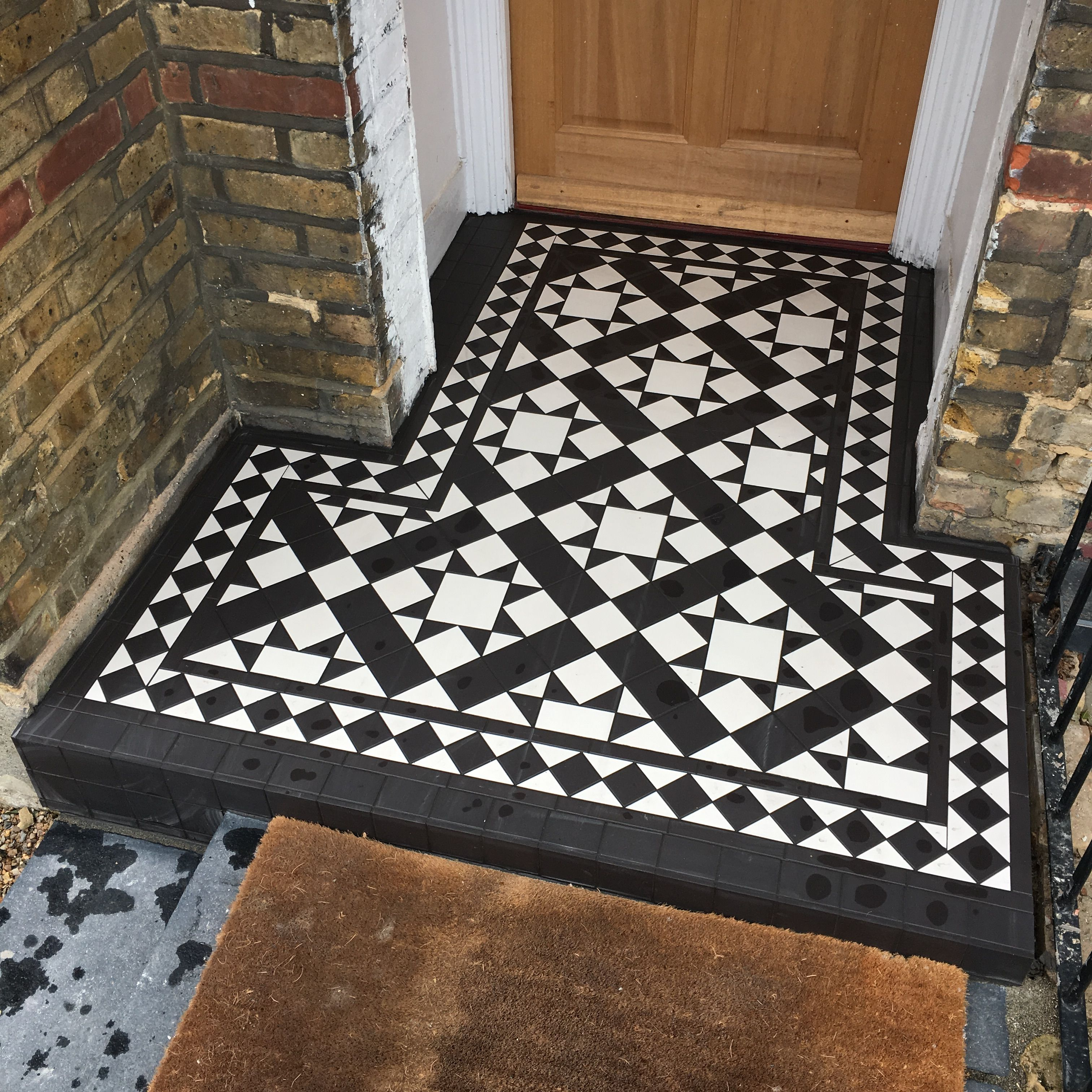 Stunning transformation of this porch step in bromley kent original stunning transformation of this porch step in bromley kent original style blenheim tiles installed by dailygadgetfo Images