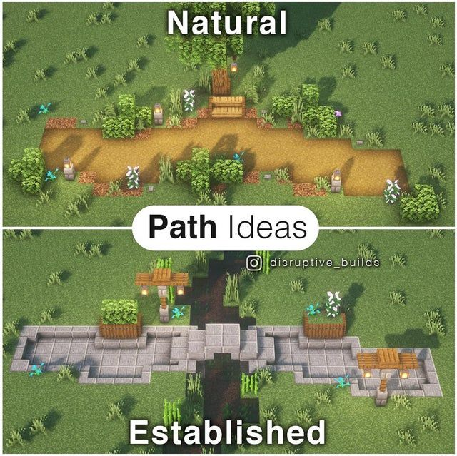 Natural vs Established Pathway Styles!