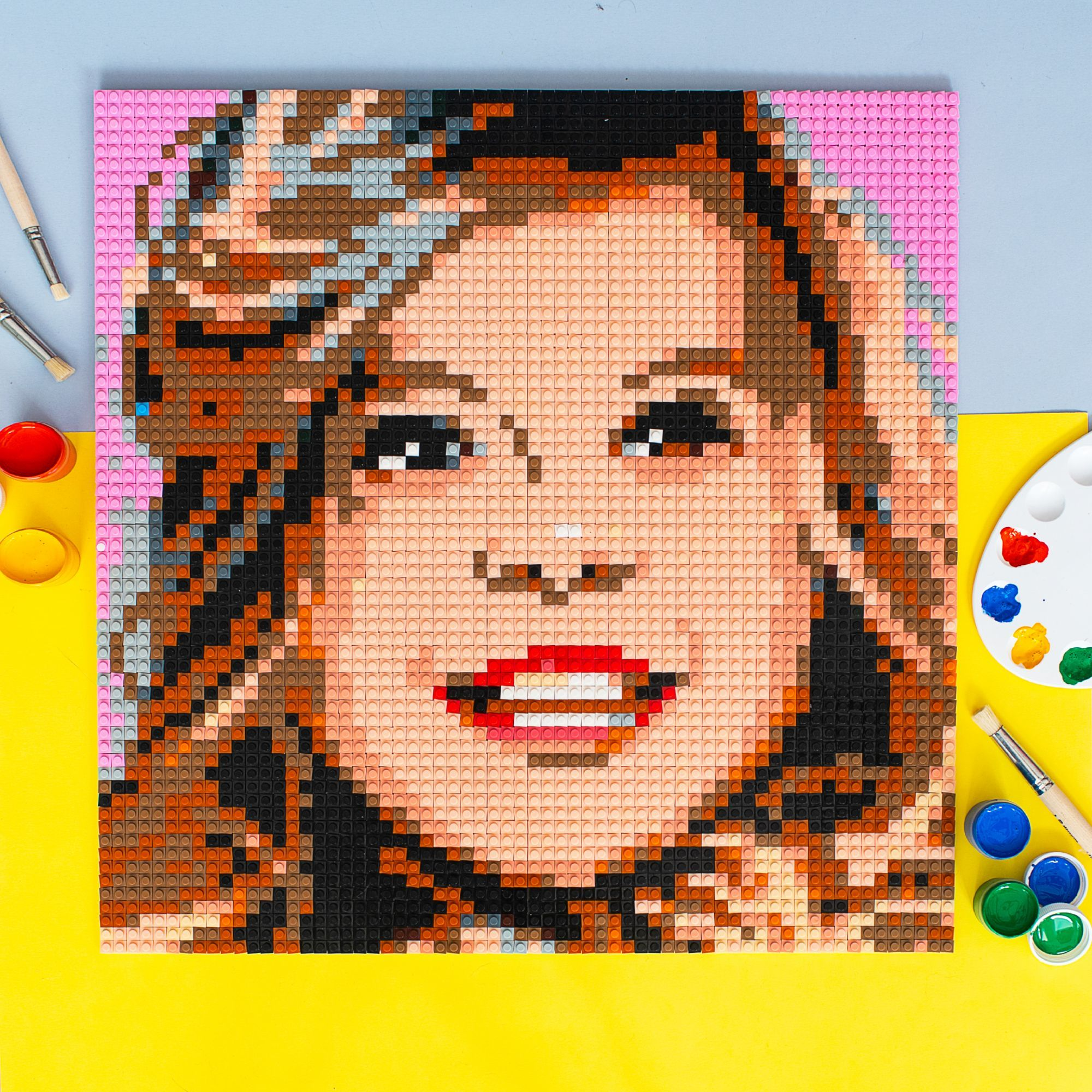 Wooden Frame For Mosaic Portrait In 2020 Creative Wall Decor Lego Diy Crafts Personalised Frames