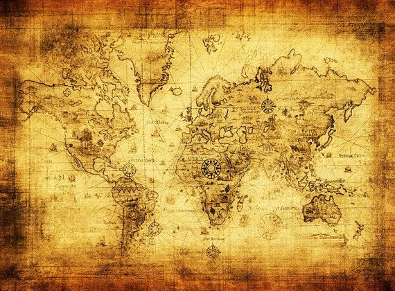 Retro world map cotton fabric best as wallpaper by papabearstore retro world map cotton fabric best as wallpaper by papabearstore 1000 gumiabroncs Gallery
