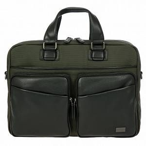 Photo of Bric's Monza Cartella pelle 39cm scomparto Laptop oliva