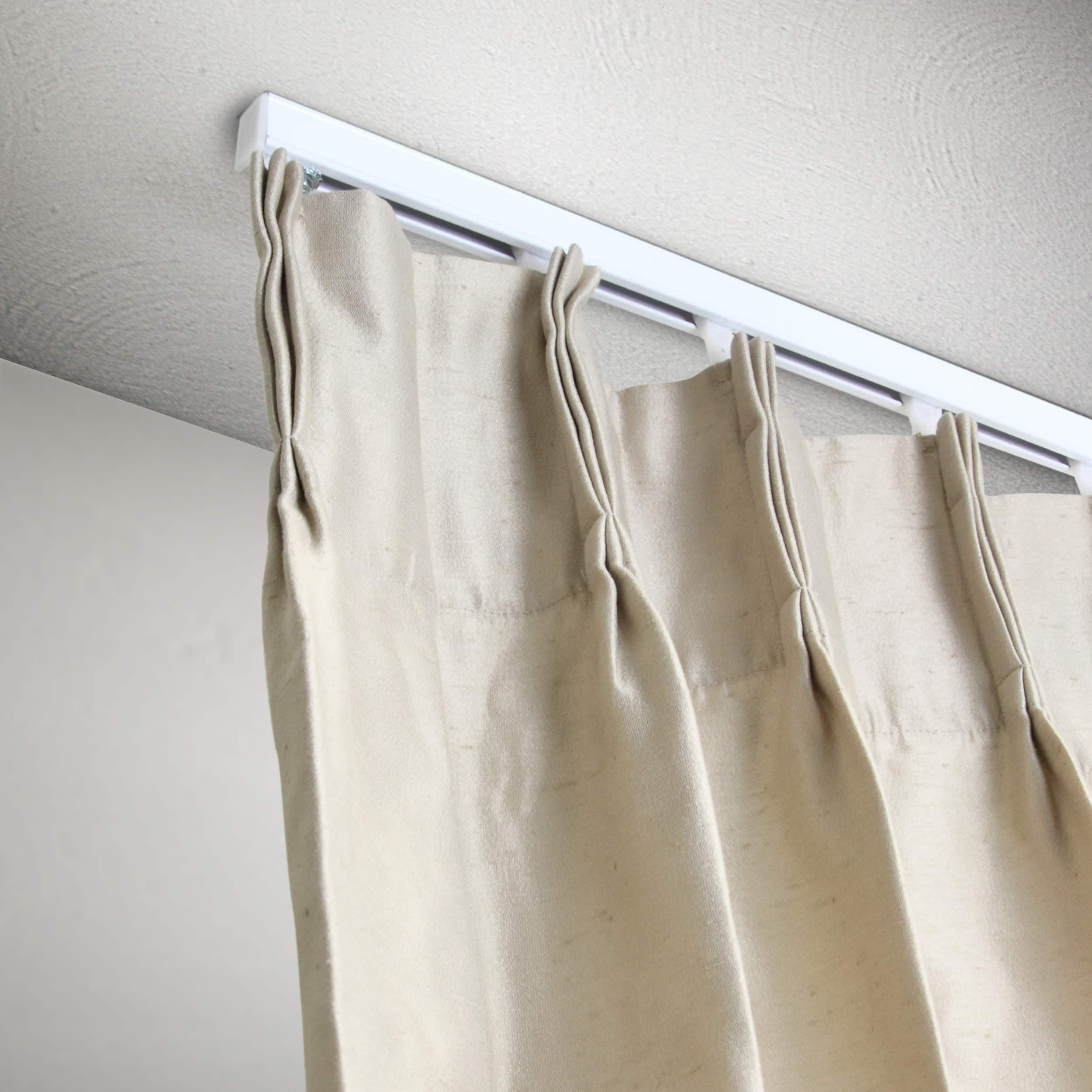 Instyledesign Heavy Duty White Ceiling Curtain Track
