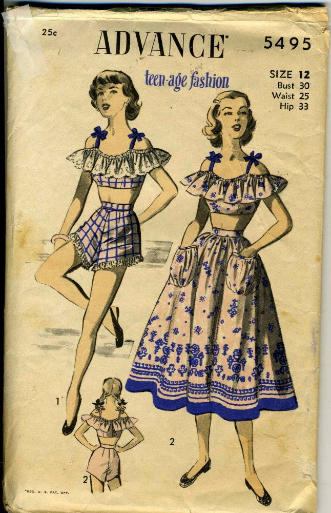Advance 5495 bra, shorts, & skirt