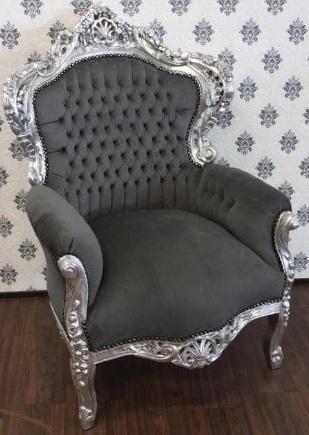 muebles estilo barroco en plata con gris