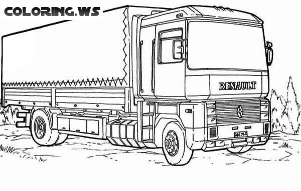 renault truck coloring page for toddlers