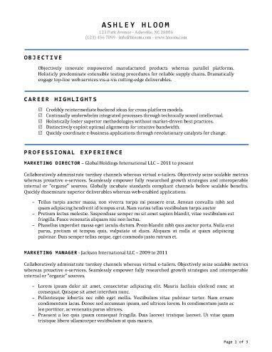 Accomplished Free Resume Template By Hloom Com Simple Resume Template Resume Template Professional Best Resume Format