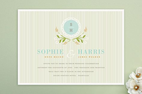 Sweet Stripe Wedding Invitations by Kristie Kern at minted.com