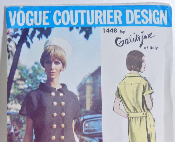 Vintage Vogue Couturier Design Pattern 1448 by OffbeatAvenue
