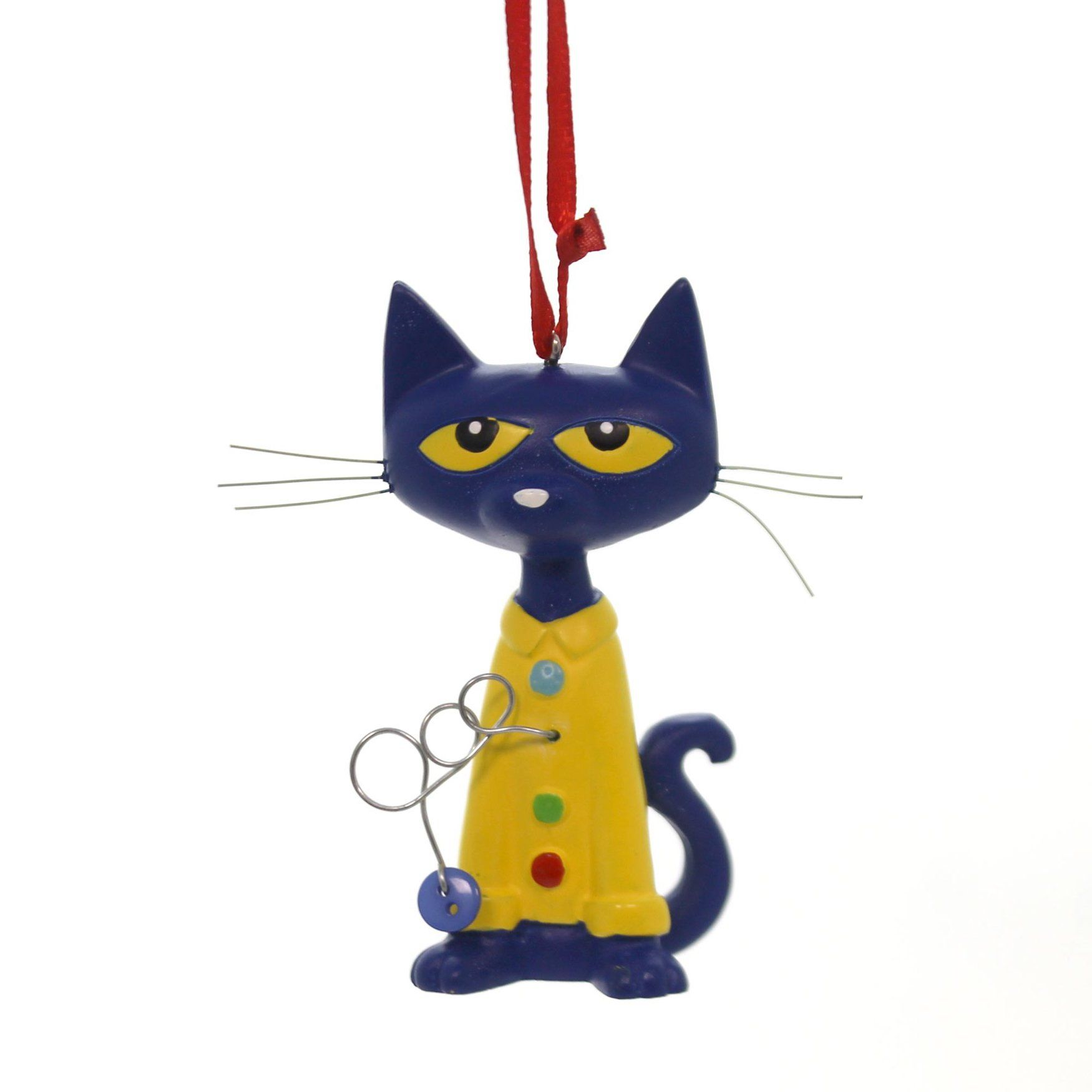 Holiday Ornaments Pete The Cat Four Groovy Button Resin