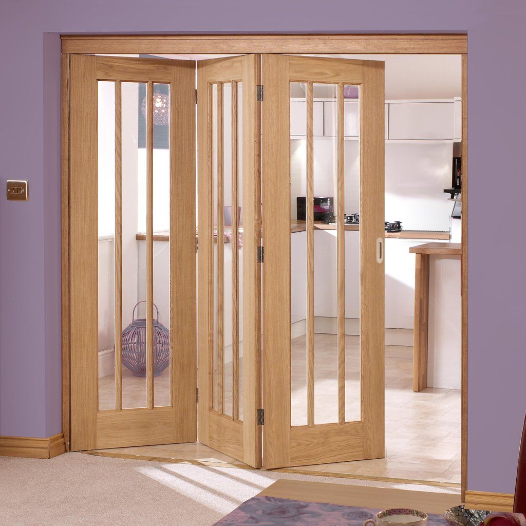nuvu roomfold lincoln oak 3 door set left clear glass. Black Bedroom Furniture Sets. Home Design Ideas