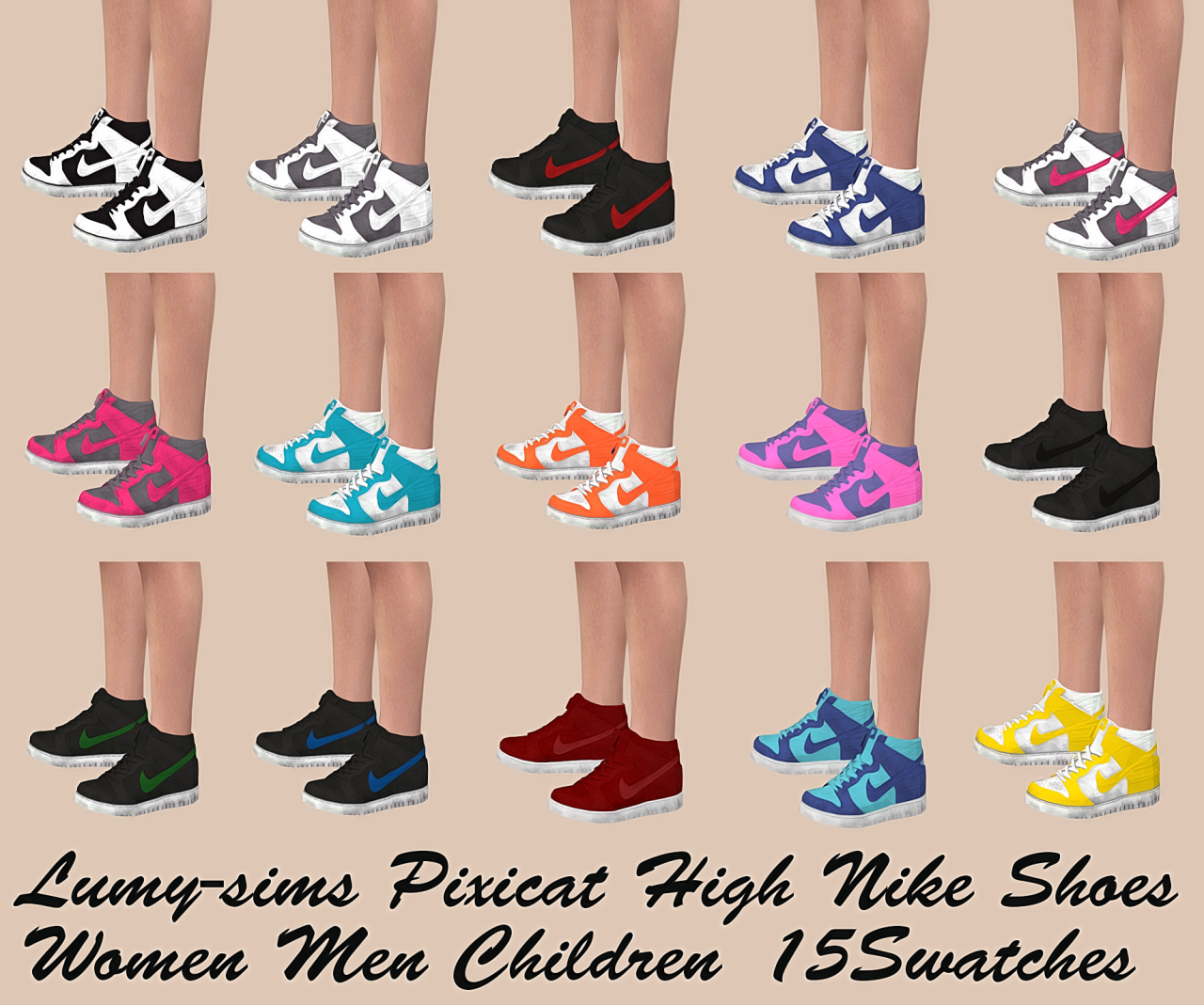 Lana CC Finds - lumy-sims: High Nike Shoes conversion Enabled.