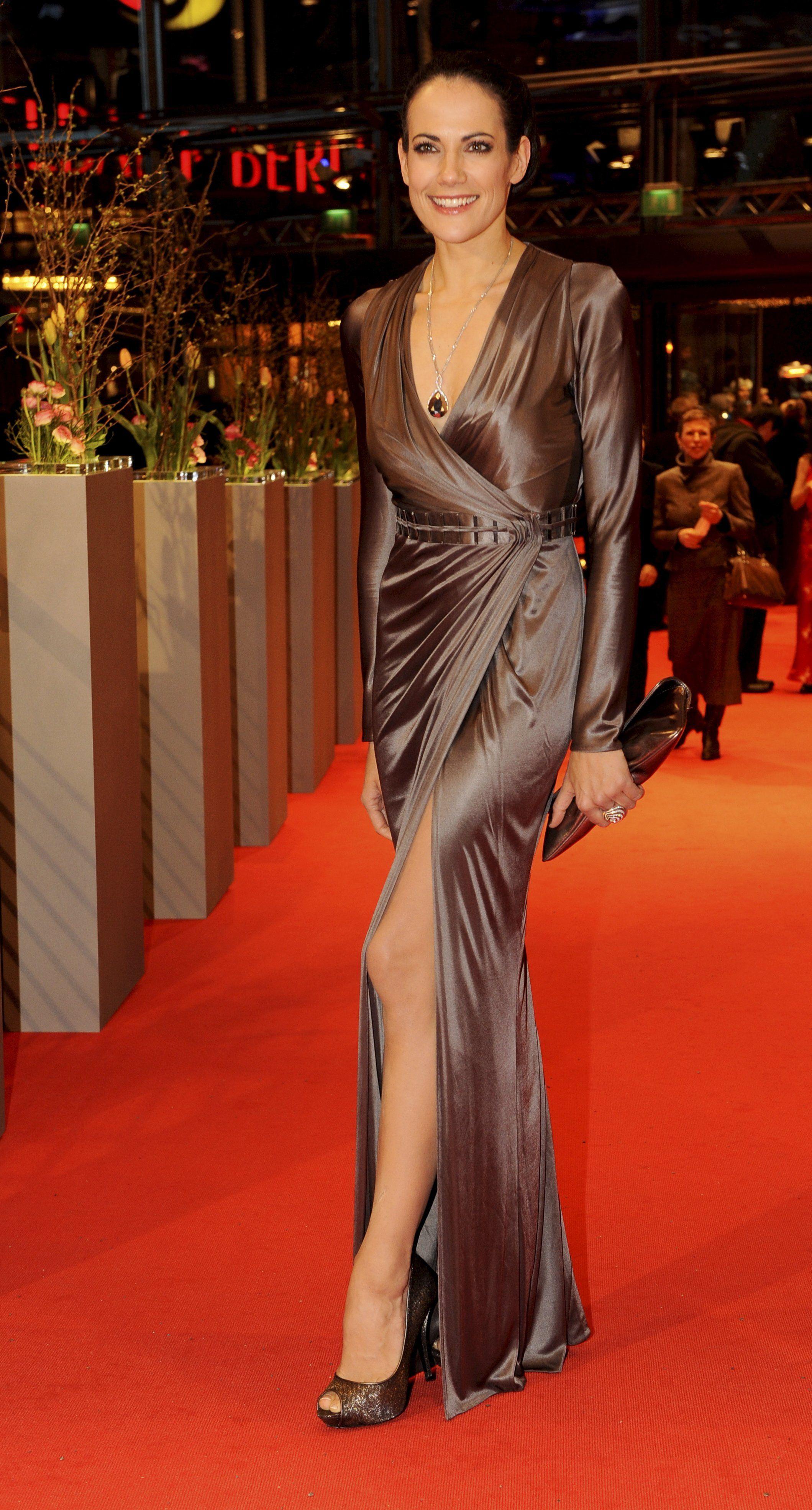 Bettina Zimmermann Satin Dresses Satin Dress Long Silk Satin Dress
