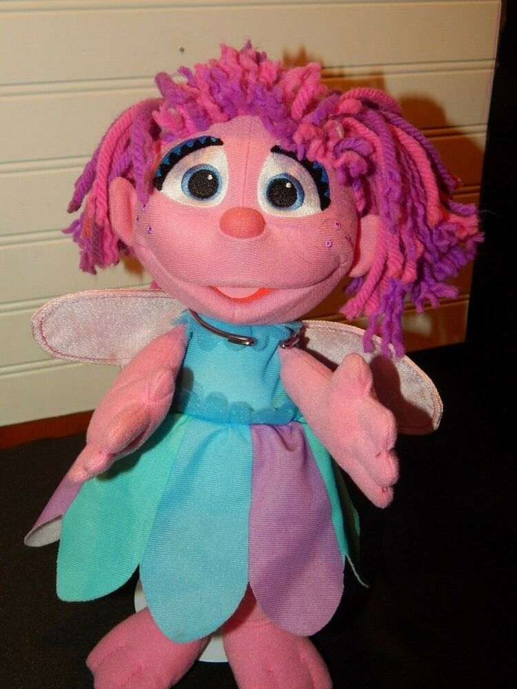Sesame Street Abby Cadabby Fairy Plush Doll 12 Tall Talking