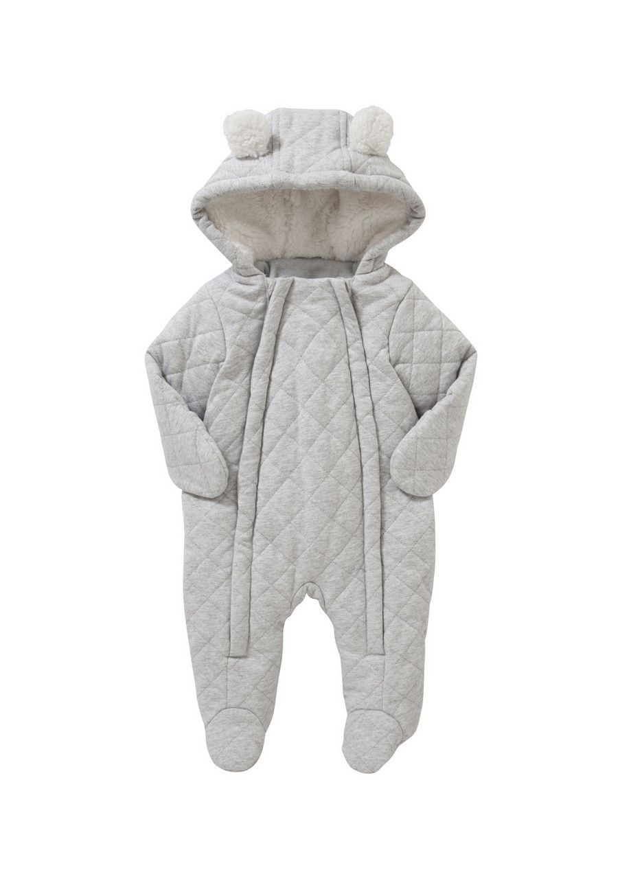 Clothing at Tesco | F&F Quilted Bear Snowsuit > coats > Coats ... : quilted baby coat - Adamdwight.com
