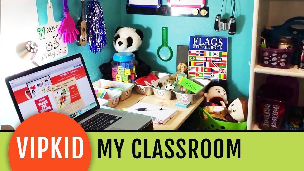 My vipkid classroom tour little tins for supplies