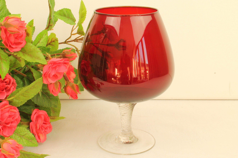 Rotes Brandy Glas Der 60er Jahre Aus Schweden 60er Jahre 60er Rot