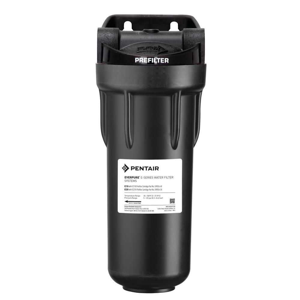 Everpure Commercial 10 In Pre Filtration Water Filtration System Black Clear Water Filtration System Under Sink Water Filter Sink Water Filter