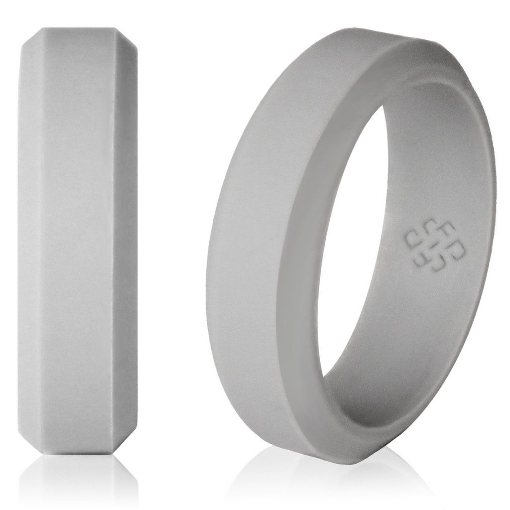 You are looking for a silicone wedding ring that has the sleek