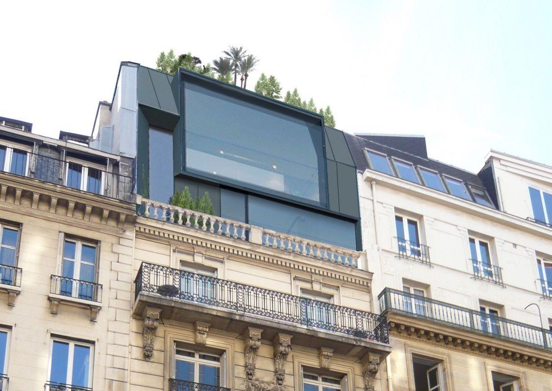 sur l vation d 39 immeuble paris e20 architecture. Black Bedroom Furniture Sets. Home Design Ideas